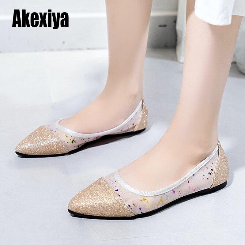 2020 dedo do pé apontado apartamentos senhoras sapatos planos ballet respirável mocasines de mujer gestante bailarinas de mujer mocassins outono s604