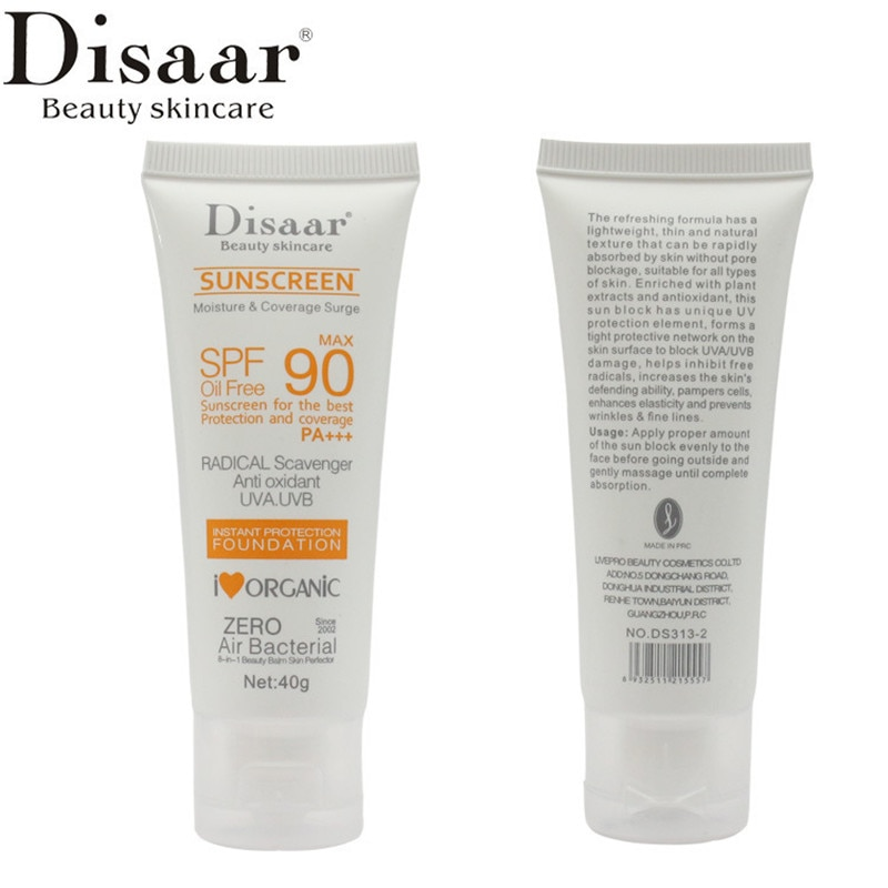 Купить с кэшбэком Facial Body Sunscreen Whitening Sun Cream Sunblock Skin Protective Cream Anti-Aging Oil-control Moisturizing SPF 90 NEW