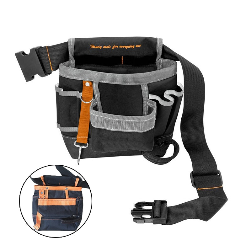 7 карманный инструмент сумка с креплением на поясной ремень с прочная застежка электрика Инструменты сумка для хранения из ткани Оксфорд ру...