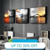 Affiches de peinture sur toile au mur  photographie realiste  paysage  tableau dart mural pour decoration de salon  decoration de maison