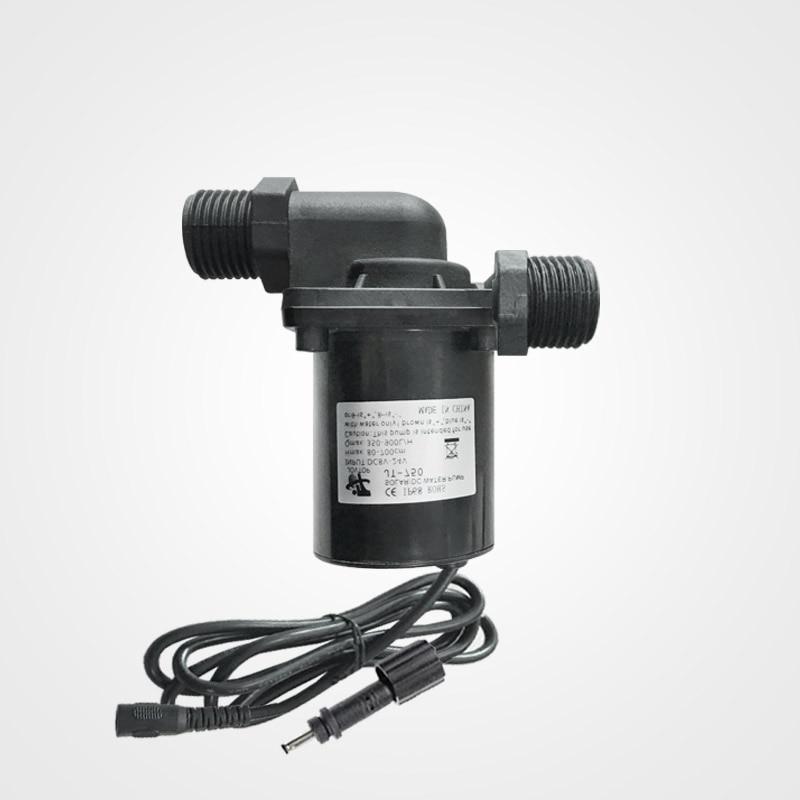12V 24V DC bomba de agua sin escobillas silencioso 4 puntos roscado de calentador de agua Solar de suelo de la ducha calefacción bomba de refuerzo Bomba De IP68