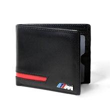 정품 가죽 /// m 로고 남성 신용 카드 가방 자동차 운전 면허증 홀더 가방 bmw m e91 e36 e39 e46 e90 x5 e53 e87 e92 g30