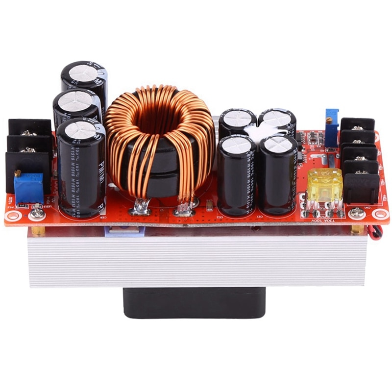 Convertidor de aumento de 1500W Dc-Dc 10-60V a 12-90V 30A módulo de fuente de alimentación de corriente constante convertidor de voltaje de controlador Led