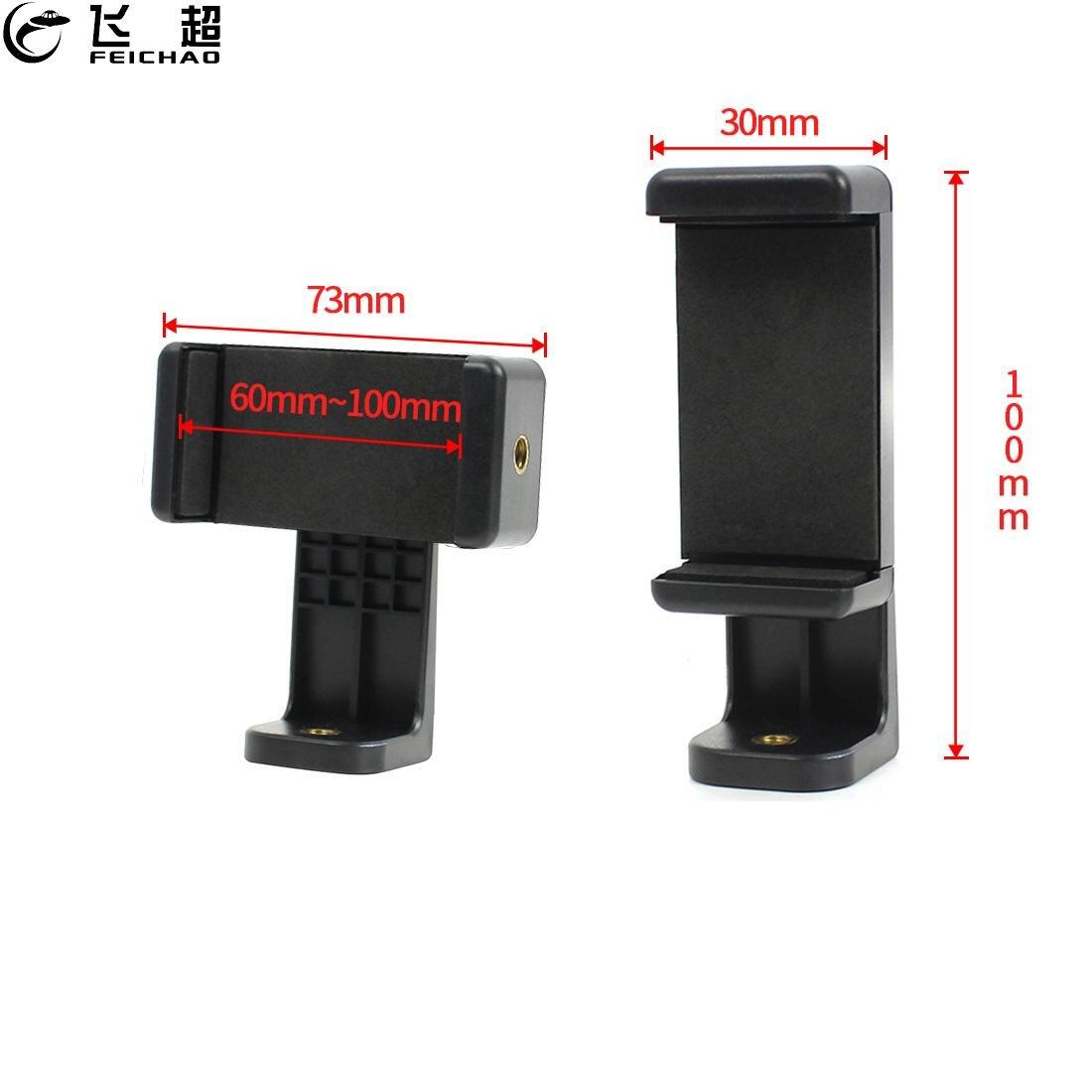 Soporte Universal para teléfono móvil con rotación de 360 grados soporte en vivo Mini Kit de adaptador de montaje para trípode de mesa ligero con orificio de tornillo 1/4