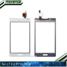 4.3 p710 터치 패널 LG 옵티 머스 L7 II 2 P710 P713 터치 스크린 디지타이저 센서 전면 유리 렌즈 패널 블랙 화이트