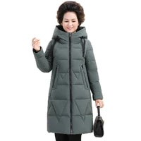 luxury clothes women winter jacket large size down jacket elegant white duck down long coat hooded super warm free shipping 257