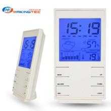 MAKINGTEC цифровой гигрометр комнатный термометр, комнатный термометр датчик влажности подсветка Время Дата температура тренд часы
