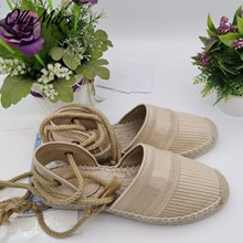 New Spring Summer Gladiator Lace Up Luxury Brand Flats Shoes Round Toe Sandals Zapatos Mujer
