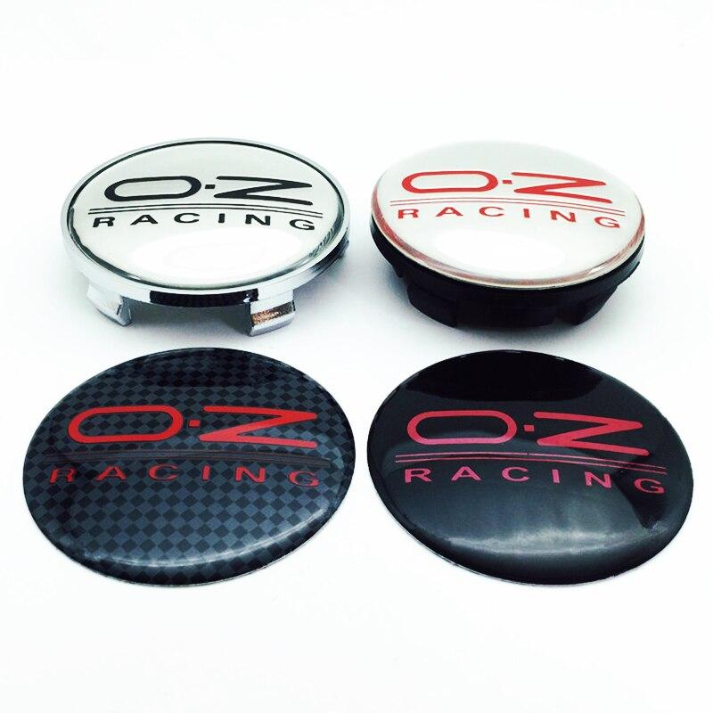 4 шт. 65 мм 68 мм Центральная втулка колеса автомобиля, колпачки, эмблема, логотип, наклейка для O.Z OZ гоночной крышки обода, аксессуары для стайлинга автомобиля