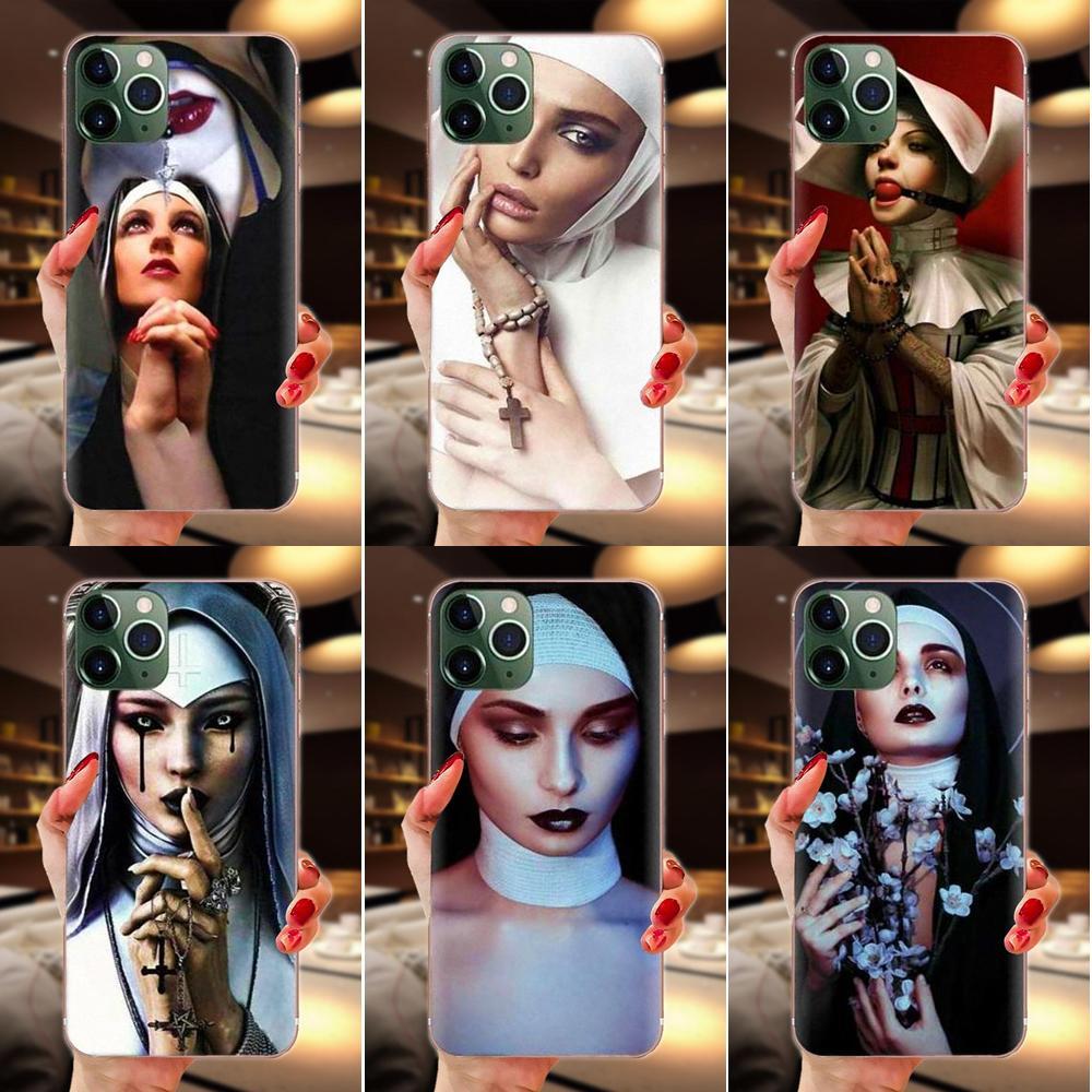 Soft TPU Design Sister Nun For Samsung Galaxy A51 A71 A81 A90 5G A91 A01 S11 S11E S20 Plus Ultra