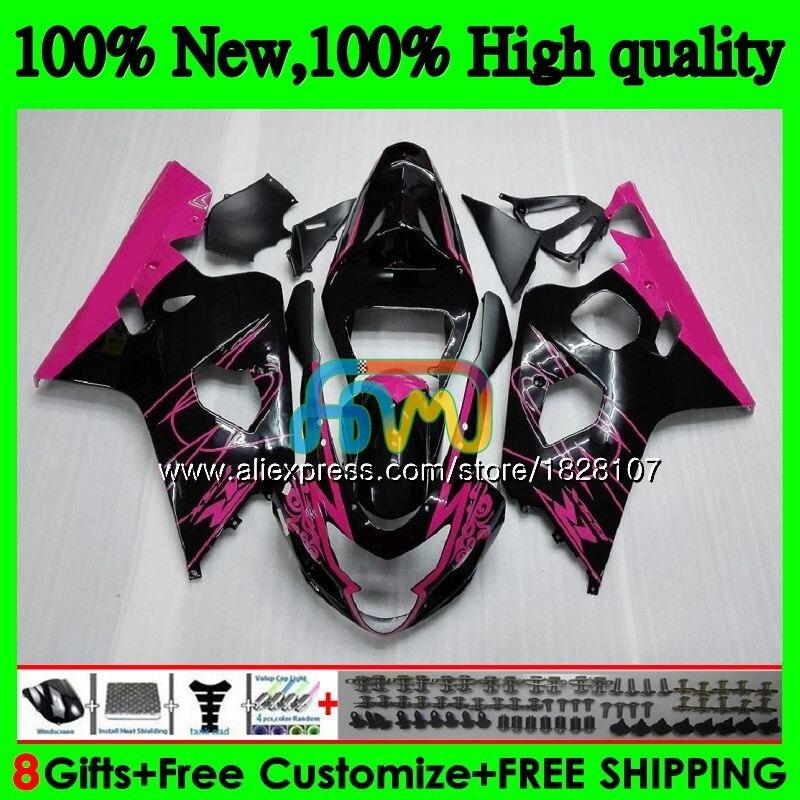 K4 cuerpo para SUZUKI GSX-R750 GSXR 600 K 5 750 Rosa caliente R750 04 05 36BS.25 GSXR-600 GSXR600 600CC 750CC GSXR750 2004 2005 carenado
