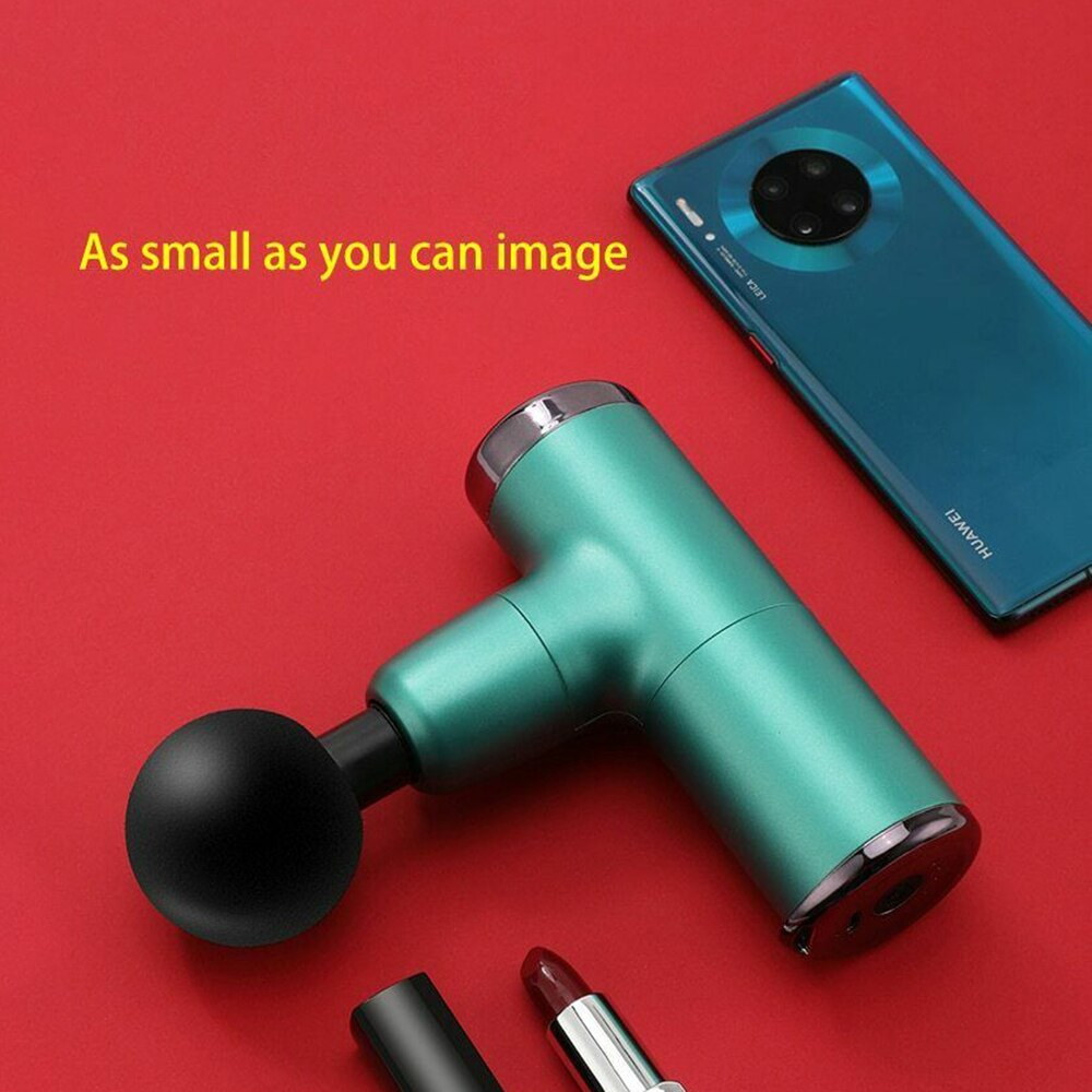 DIOZO Mini Fascia Gun Deep Tissue Vibration Pain Relief Device 4 Replaceable Massage Heads Usb Body Massager enlarge