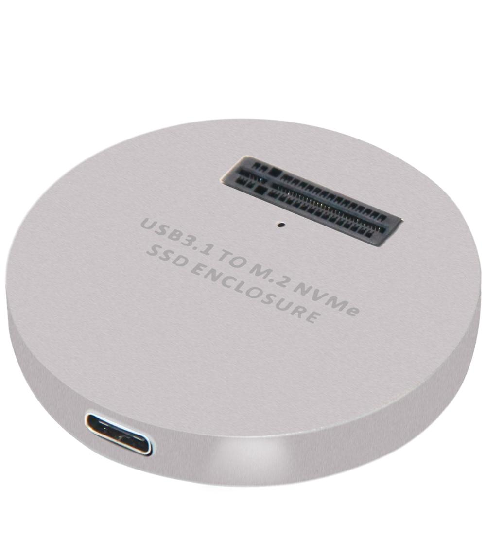 M2 NVME SSD Case for NVME PCIE M Key M+B Key SSD Disk USB C 10Gbps Hard Drive Enclosure M.2 SSD Box A-C C-C Cable NVME Enclsoure