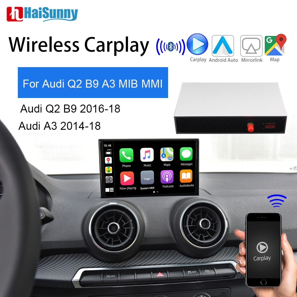 Review HaiSunny Wireless Carplay Support Smart Multimedia Navigation Reverse Android Auto Mirroring Car Play For Audi A3 8V 8P Q2 B9