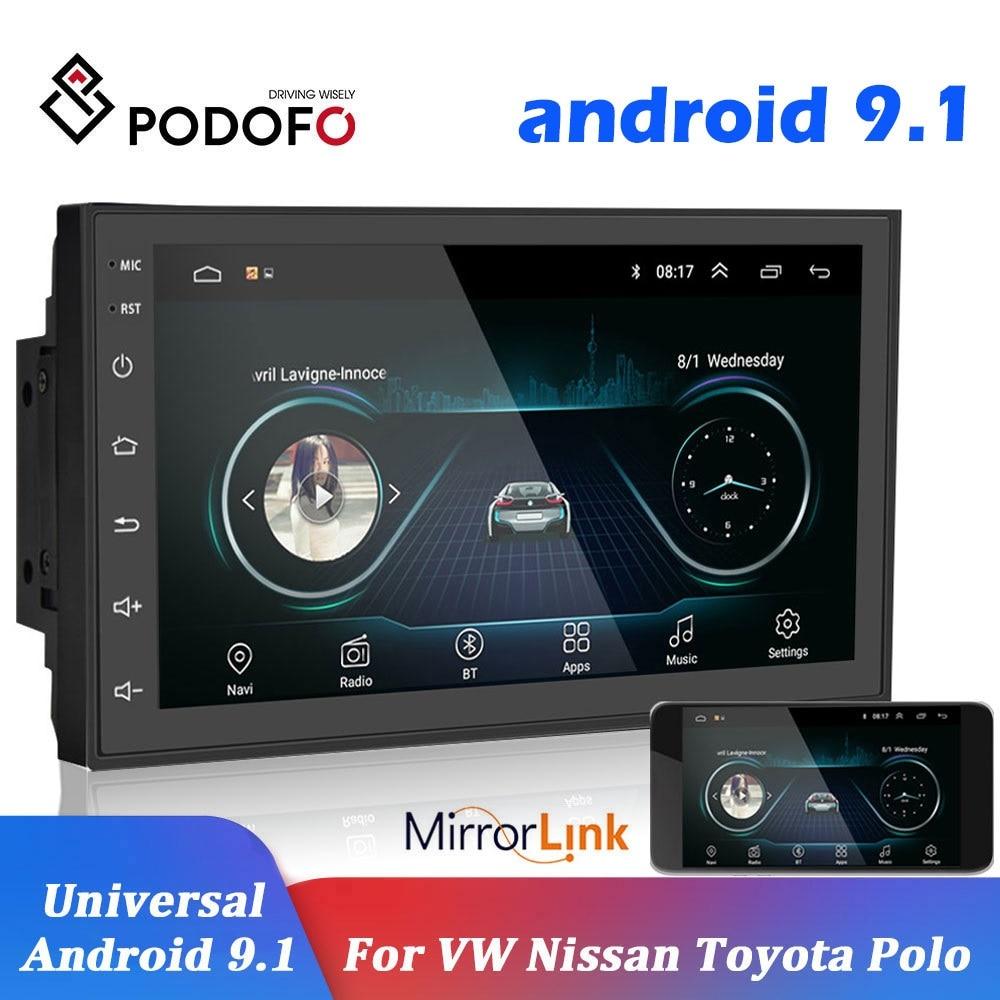 Podofo 2 din Car Radio 2.5D GPS Android Multimedia Player Universal 7'' audio Navigation For Volkswagen Nissan Hyundai Kia Toyota