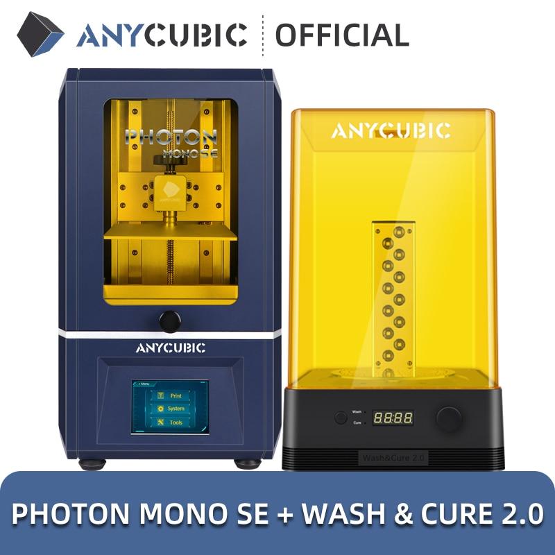 ANYCUBIC Photon Mono SE 3D Printer APP Remote Control LCD UV 3D Printing High Speed 60mm/h Resin 3D Printers
