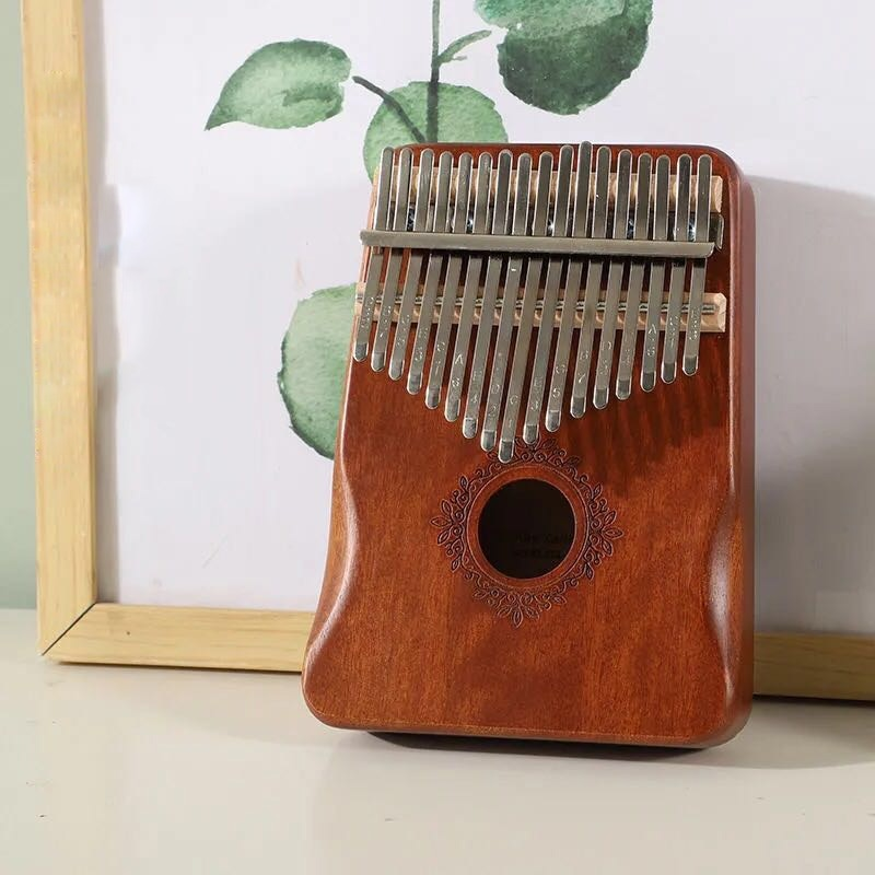 17 Key Kalimba Thumb Piano High Quality Blue Solid Wood Portable Keyboard Instrument Mahogany  African Kalimba Finger Piano enlarge