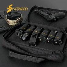 VOTAGOO Tactical Gun Range Bag Pistol Case Handgun Double Hand Gun Carrying Case with Lock Outdoor H