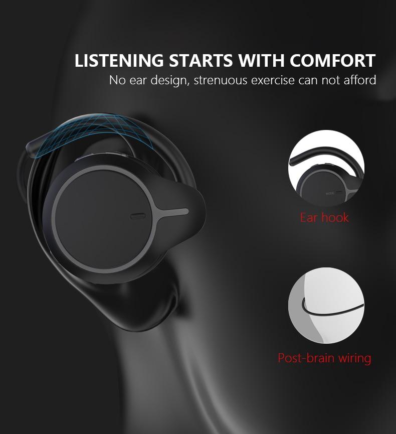 Mitvaz S21(A6 Upgrade Version)Bluetooth 5.0 Sports Running Headphones Portable Wireless Earphones Gift Case enlarge