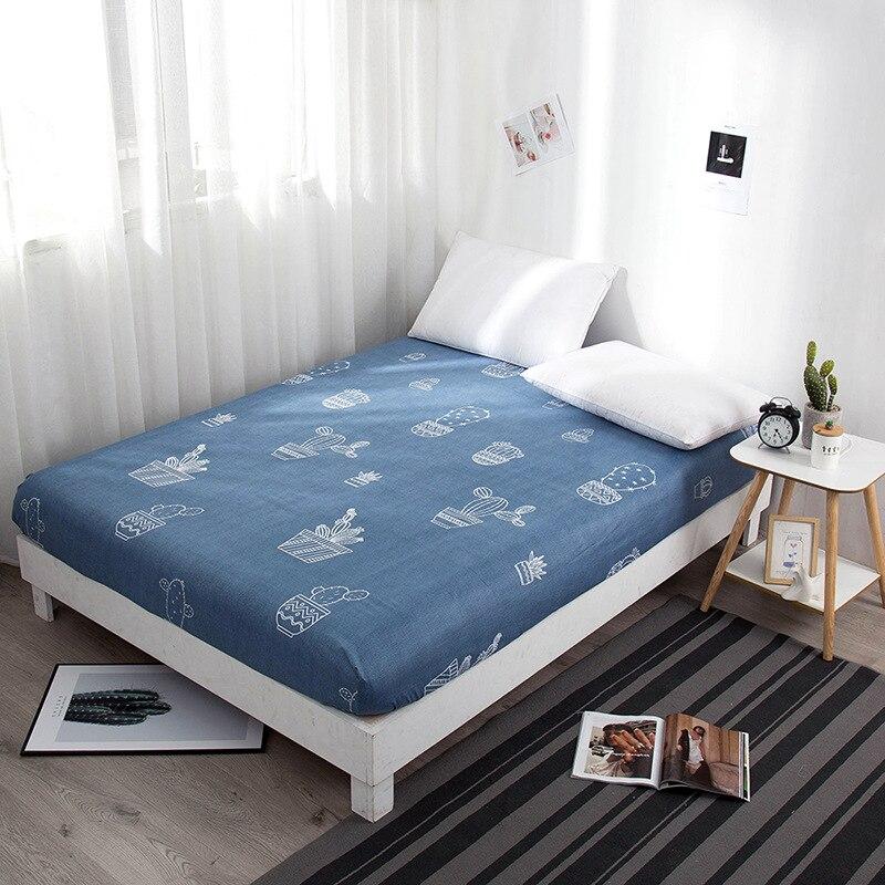 Nuevo estampado nórdico 2020 de varias tallas, Protector de colchón, Funda de colchón para dormitorio con apliques suaves, sábana para cama individual/Doble