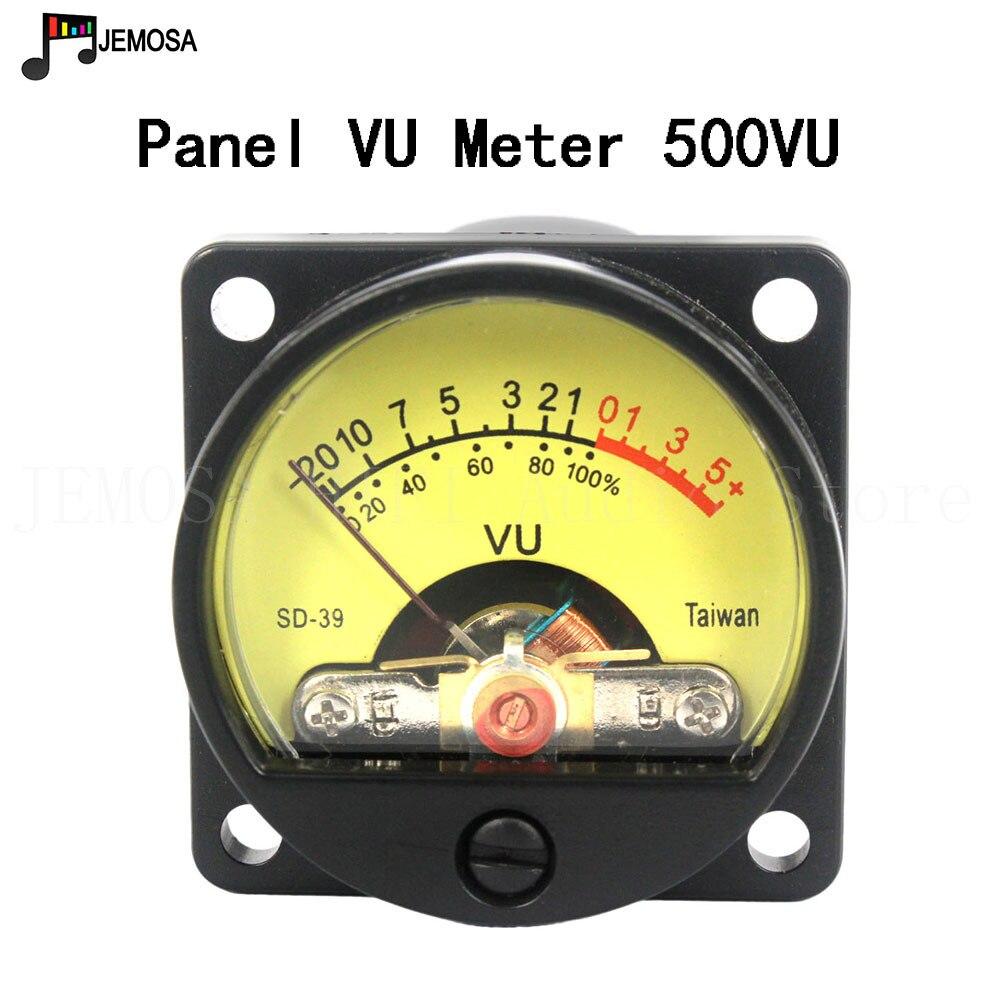 2 uds. VU SD-39 medidor de nivel, Panel medidor 500VU, puntero mecánico, medidor de nivel de Audio, 6-12V, luz trasera cálida para radio amplificadora