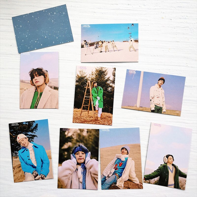 kpop lomo card bangtan boys album map of the soul persona member photocard set 30 cards 8 Pcs/ Set Kpop Bangtan Boys Lomo Card Poster 2021 Winter Package Card PhotoCard Cards JUNG KOOK JIMIN SUGA Jin Fans Collection