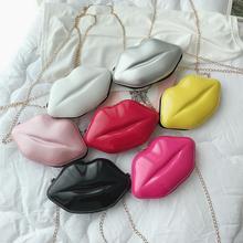 Lips Shape PVC Handbags Solid Zipper Shoulder Bag Crossbody Messenger Phone Coin Bag Evening Party Bolsas Feminina женские#50