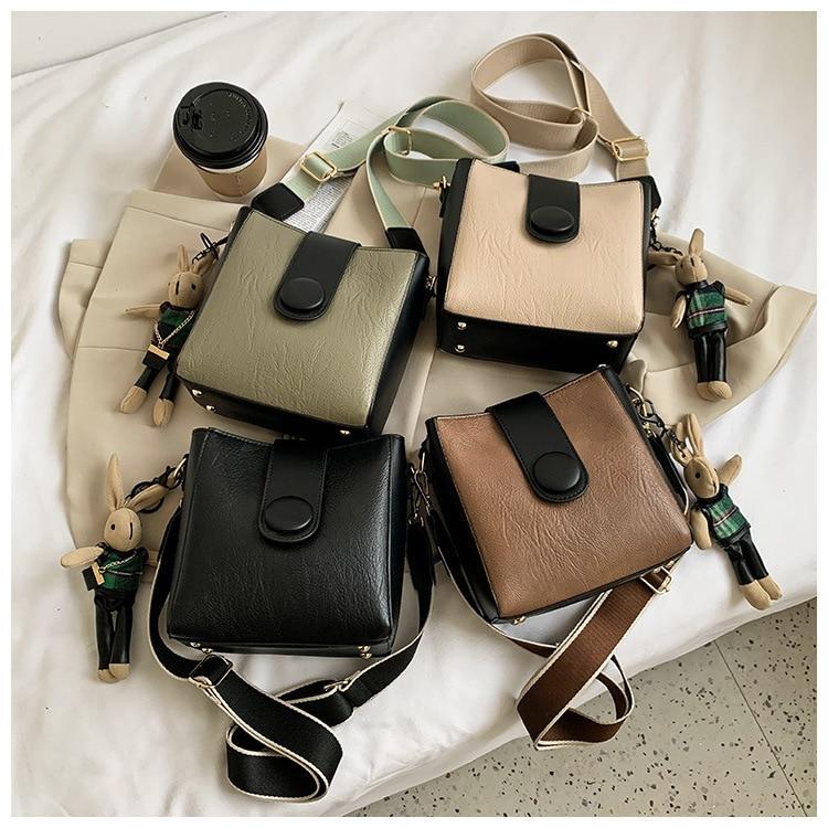Small Bag Design Bag Western Style Bucket Bag for Women 2021 New Online Influencer Fashion Messenger Bag