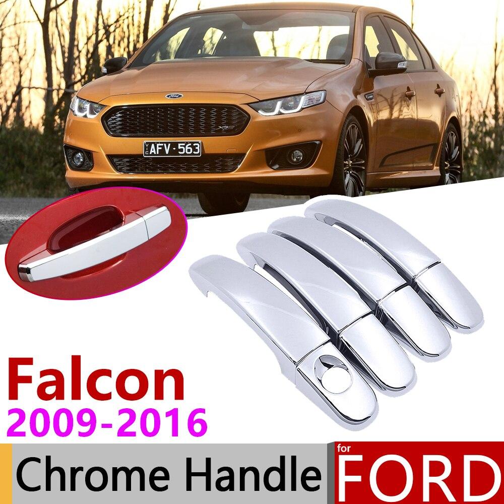 for Ford Falcon FG FGX G6E XR6 XR8 XT 2009~2016 Chrome Door Handle Cover Car Accessories Stickers Trim Set 2010 2012 2013 2015