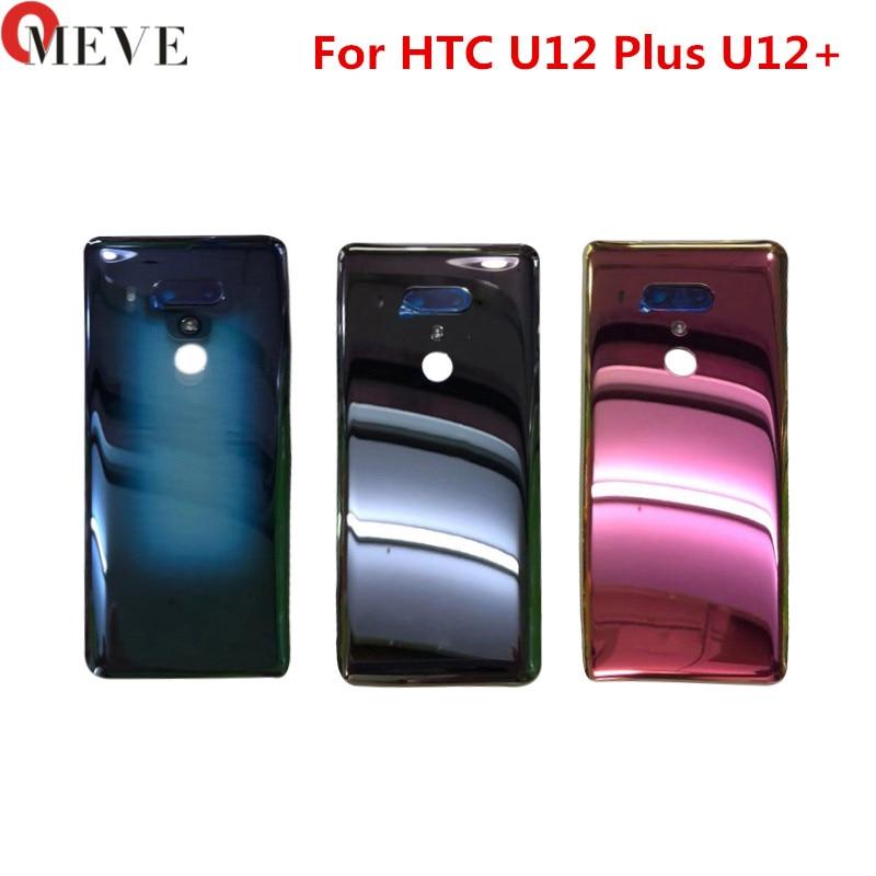 6.0 polegadas Para HTC U12 Além de Volta Porta Traseira Tampa da Bateria Caso Da Habitação de Substituição Do Painel De Vidro Parte Para HTC U12 + Tampa da bateria