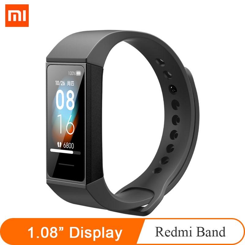 "2020 nueva pulsera Xiaomi Band 4 Smart Redmi pulsómetro 1,08 ""Pantalla de color 8MB batería larga 50M pulsera de Fitness impermeable"