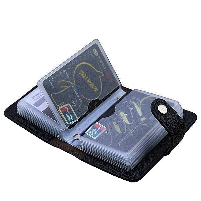 Heißer PU Leder 24 Bits Id Karte Halter Multifunktions Business Bank Card Fall Männer Frauen Kredit Passport Rfid Geldbörse Brieftasche tasche