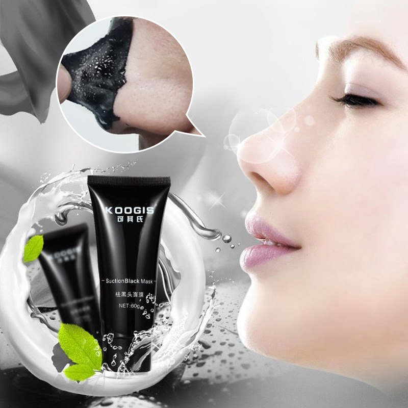 2021 Face Care Suction Black Mask Blackhead Removal Face Mask Peeling Off Pore Strips Black Head Acn
