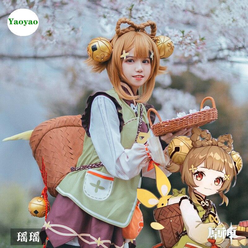 مشروع ياو ياو تأثيري حلي لعبة Genshin تأثير العشب عنصر Kawaii Loli تأثيري اكسسوارات أنيمي لطيف فتاة الملابس مجموعة