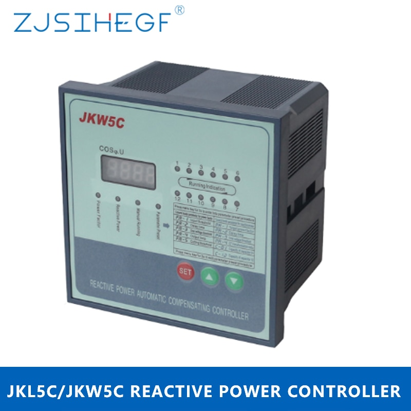 JKW5C/JKL5C 380 فولت 4/6/8/10/12 خطوات رد الفعل عامل الطاقة تحكم التعويض التلقائي لبنك مكثف القدرة