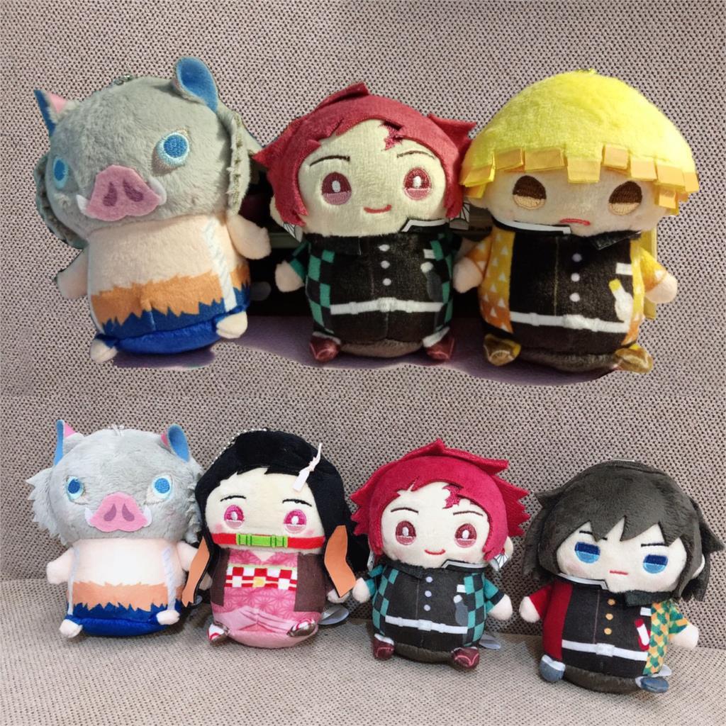 LLavero de Anime japonés Demon Slayer Kimetsu no Yaiba Tomioka Giyuu, muñeco de peluche bonito para Cosplay, llavero de figura colgante Unisex