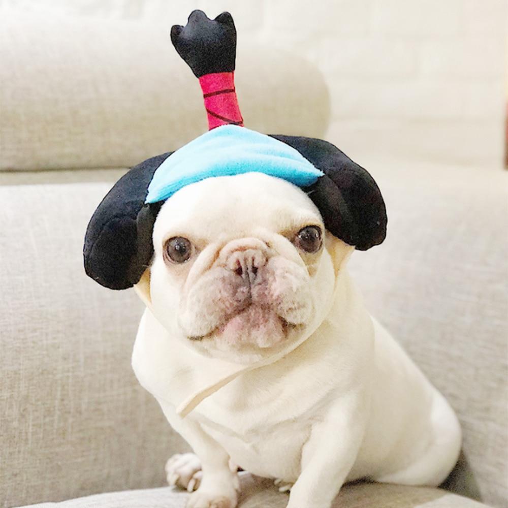 Gorro divertido Popular para perros y gatos, sombrero samurái de Geisha, accesorios para vestir a tus mascotas