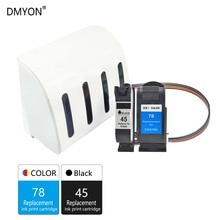 DMYON 45 78 CISS, tinta a granel Compatible con impresora HP 45 78 Deskjet 1100 1115 1215 1220c 3820 3822 6122 6127 930c 932c 940c 950c