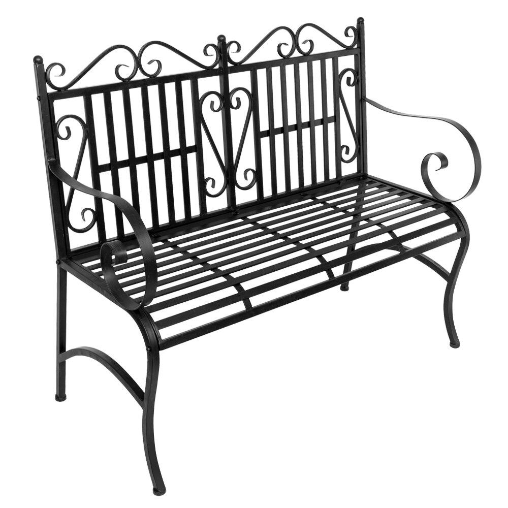 Нам 2-Seater складной открытый патио садовая скамейка стул для веранды сиденье с Сталь рамка твердой открытый садовая мебель стул