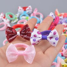 Baby Kids Elastic Hair Bands Hair Ropes Girls Colorful Nylon Ponytail Holder Rubber Bands Scrunchies Headband Hair Accessories