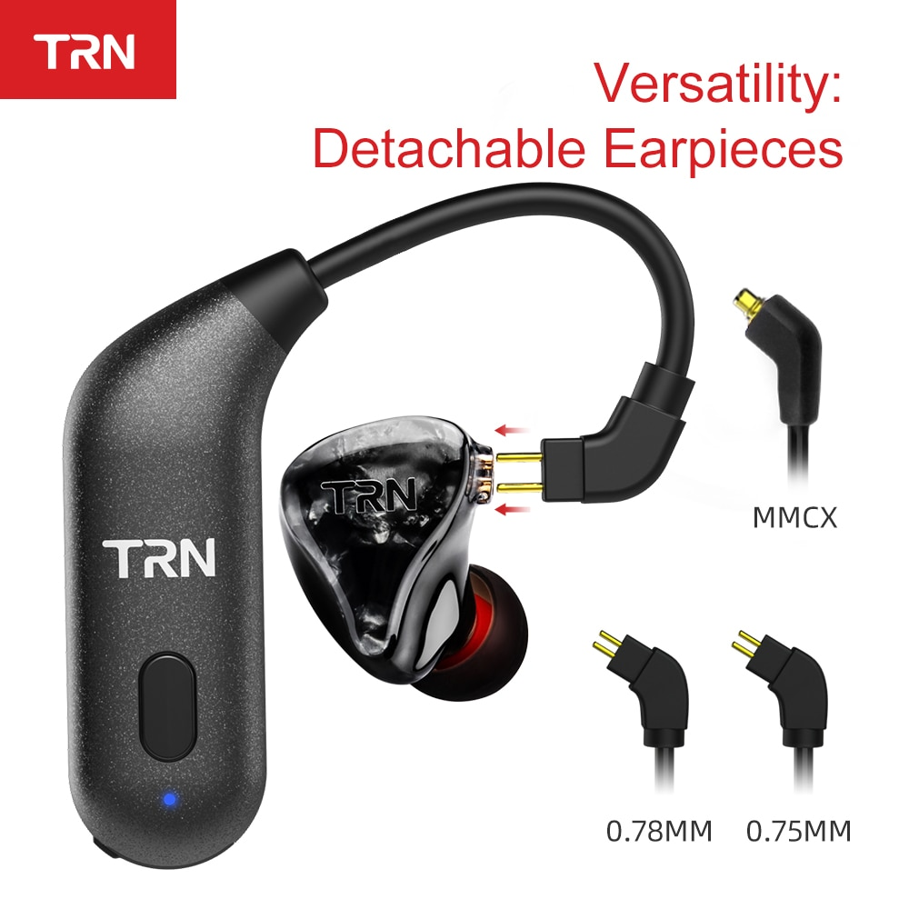 TRN BT20S APTX Bluetooth Sem Fio 5.0 Gancho do Ouvido Fone de Ouvido de ALTA FIDELIDADE 2PIN/Conector MMCX Para TRN X6/IM1/ IM2/V80/v30