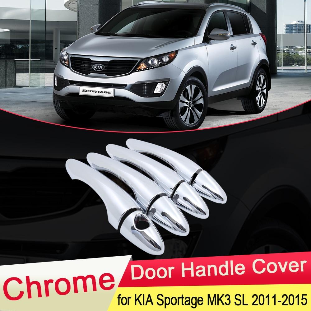 for KIA Sportage MK3 SL 2011 2012 2013 2014 2015 Chrome Door Handle Cover Exterior Trim Catch Car Cap Stickers Accessories ABS