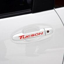 Autocollants et autocollants réfléchissants de porte de voiture   Nouveaux autocollants de voiture, pour Hyundai Tucson ix35 style de voiture, 4 pièces/ensemble