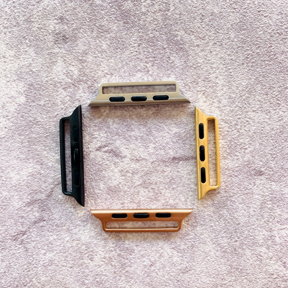 10 pçs selado conector diy 11 para apple assistir banda adaptador 38mm 42mm 40mm 44mm para iwatch adaptador série 1 2 3 4 5 acessórios