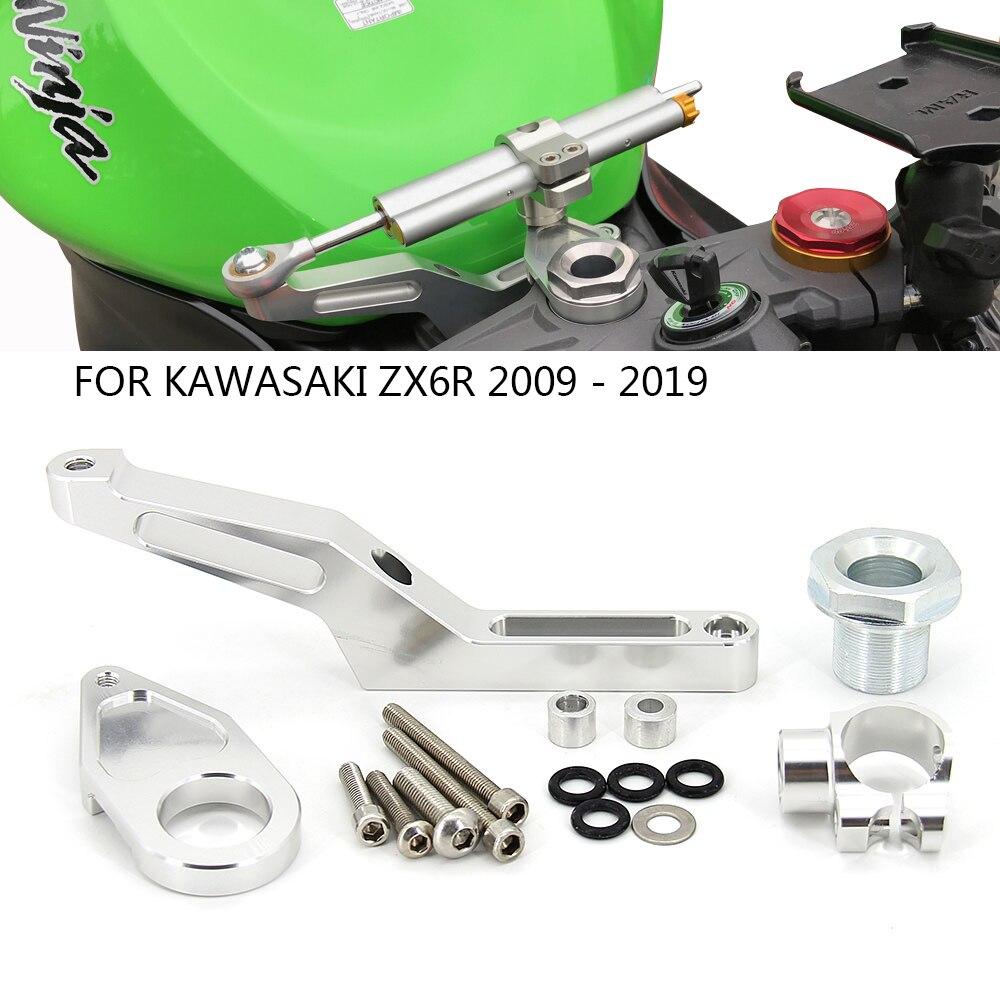 Мотоцикл с ЧПУ рулевой демпфер Монтажный кронштейн для Kawasaki Ninja ZX-6R ZX6R ABS ZX636 2009-2019 2014 2015 2016 2017