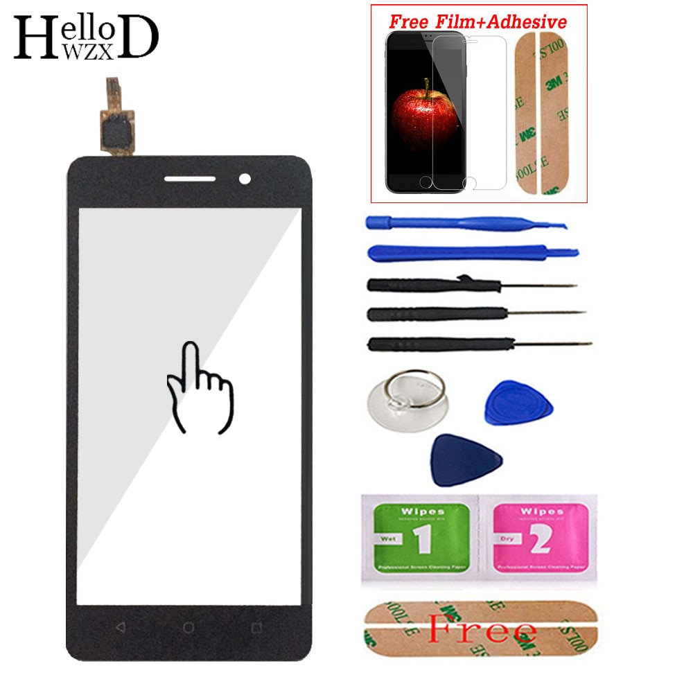 Front Touch Screen Glass For Huawei Honor 4C Touch Screen Digitizer Panel Lens Sensor 5.0'' Mobile P