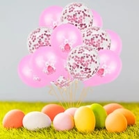 12inch bunny latex balloon mix color confetti ballons happy easter for home decorations baby shower children birthday party