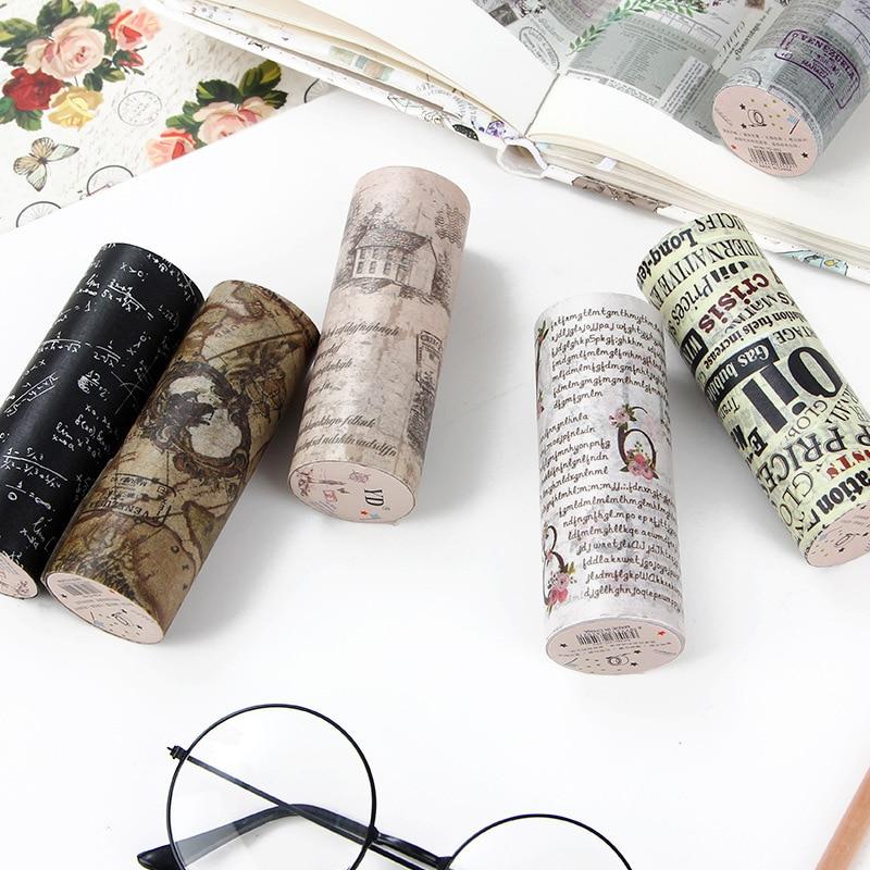 Фото - Journamm 10cm*5m Letter Washi Tape Vintage Newspaper Style Tape Junk Journal Supplies Stickers Scrapbooking Decorative Tape vintage newspaper