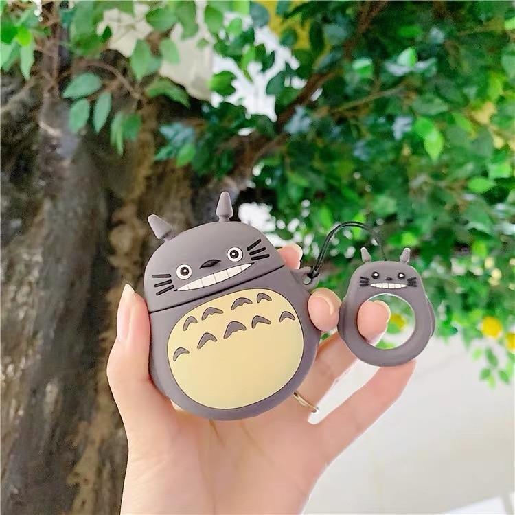 Japón Totoro inalámbrico auriculares Bluetooth con carcasa para los Airpods de Apple de silicona auriculares casos para Airpods2 cubierta protectora