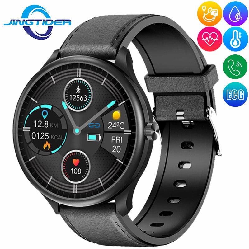 M10 بلوتوث دعوة ساعة ذكية الرجال النساء ECG PPG Smartwatch معدل ضربات القلب ضغط الدم الجسم رصد درجة الحرارة ل شاومي آيفون